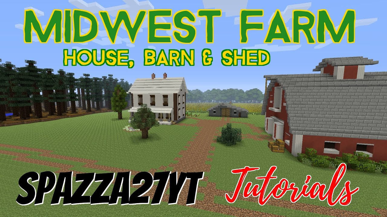 Midwest Farm House Barn Amp Shed Minecraft Tutorial YouTube