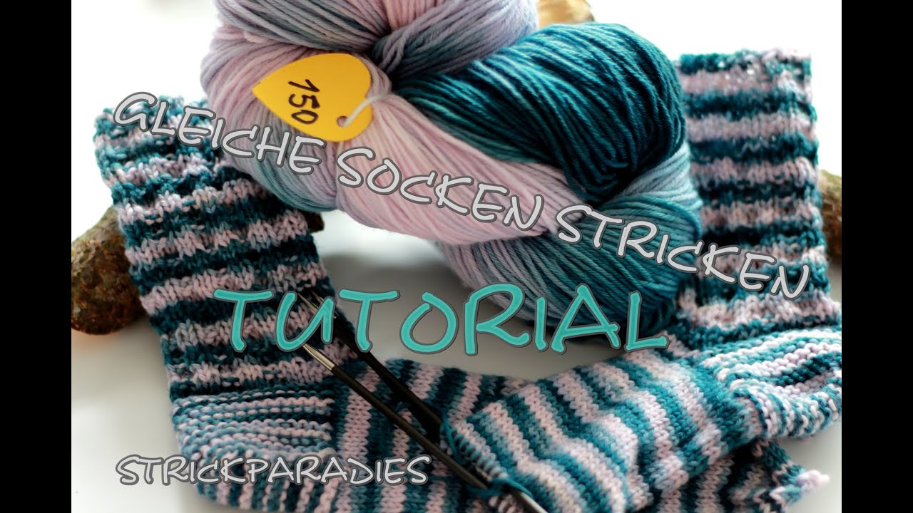 farbverlauf zwei gleichfarbige socken stricken tutorial youtube. Black Bedroom Furniture Sets. Home Design Ideas