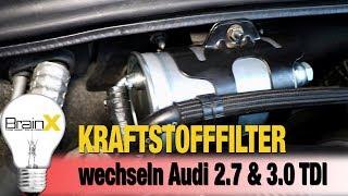 Kraftstofffilter wechseln Audi A4 A6 2.7 und 3.0 TDI