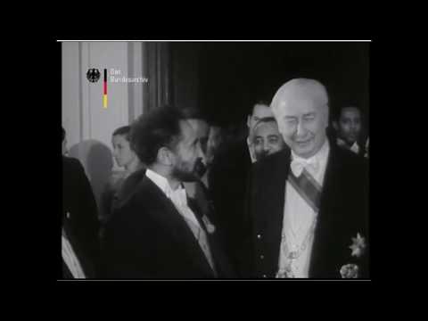 Emperor Haile Selassie of Ethiopia visits Germany 1954
