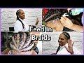 FEED IN BRAIDS TUTORIAL | BRAIDING MY MOM'S HAIR