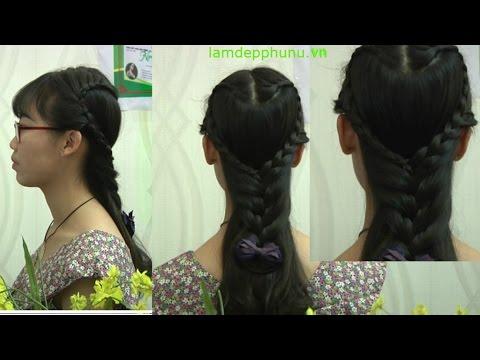 Hướng dẫn tết tóc: Kiểu 7: Hình trái tim cuốn hút