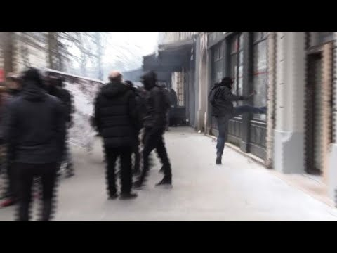 Protesters, police clash in Paris on day one of strikes