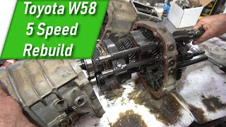 How To Rebuild a Toyota W58 5 Speed Transmission - Part 1