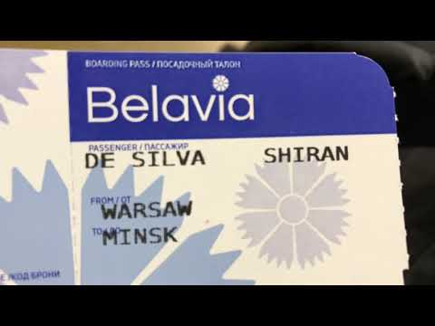 Belavia Flight to Minsk Belarus