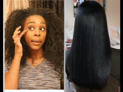Straightening 14a/14b Hair witut HEAT DAMAGE - YouTube