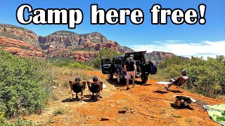 Sedona, AZ Free Camping! Boondocking in Arizona (Dispersed Camping)
