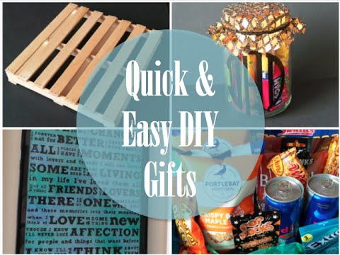 Quick easy diy gifts youtube for Easy diy birthday gifts