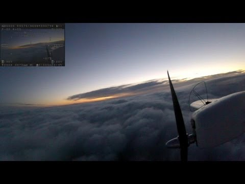 FPV twinstar night to sunrise flight with ditch landing at end