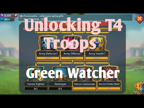Unlocking My T4 Troops Lords Mobile| Lords Mobile| Unlocking T4| T4 Troops|green Watcher