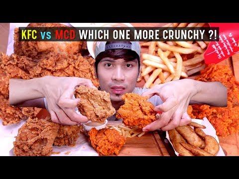 KFC VS MCD Mana Lagi Crunchy ?!   REAL SOUND EATING SHOW   ASMR MALAYSIA