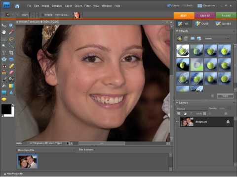 Photoshop Elements 7 Tutorial Whiten Teeth Tool Youtube