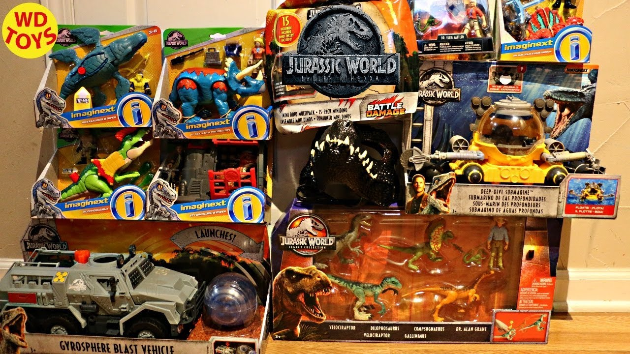 New Jurassic World Shopping Spree Fallen Kingdom Mattel Dinosaur ...