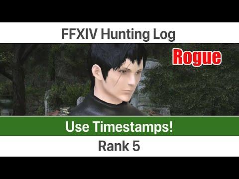 FFXIV Hunting Log Rogue Rank 5 - A Realm Reborn