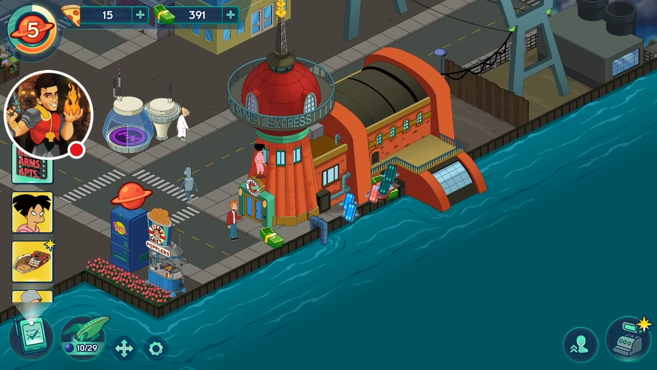 how to get scruffy in futurama worlds of tomorrow