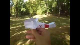 """AXEL III"" paper biplane: flight test."