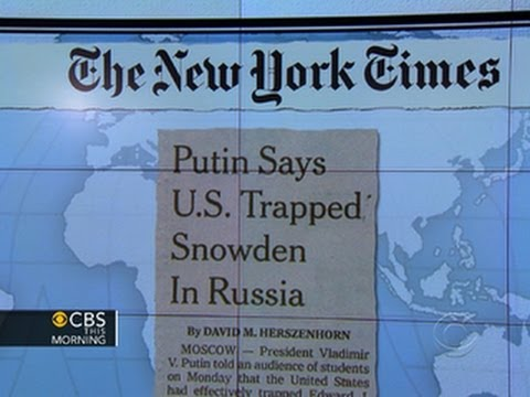 Headlines: Putin blames U.S. for trapping Snowden at the Moscow airport