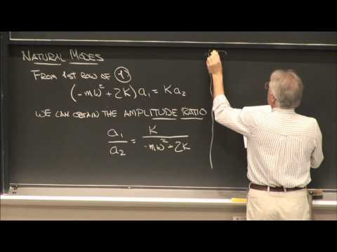 22. Finding Natural Frequencies & Mode Shapes of a 2 DOF System