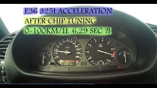 BMW E36 325i 93`192PS acceleration - after ebay chip tuning