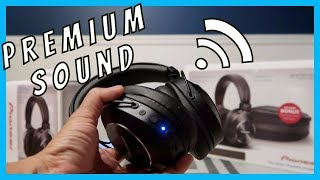 Pioneer SE-MS7BT-K Premium Wireless Stereo Headphones Unboxing | Review Blackguppy Black guppy