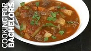 Beef Stew And New York Chili By Cooking For Bachelors® Tv