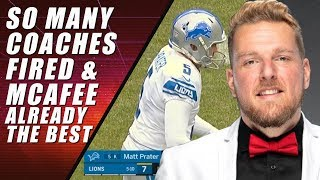NFL Coaches Fired & Pat McAfee Announcing Legend