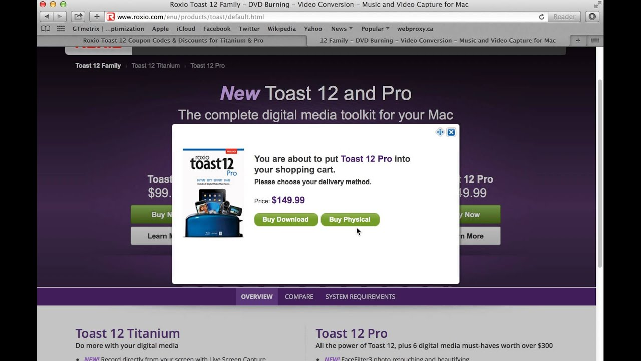 Roxio Toast 12 Coupon Codes & Discounts for Titanium & Pro