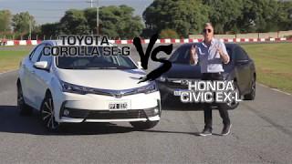 Honda Civic / Toyota Corolla - Comparativo - Matias Antico - TN Autos