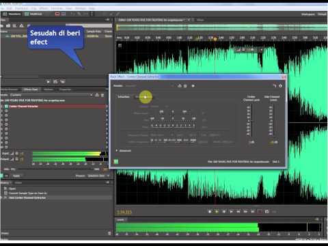 Cara Buang Musik Pada Lagu Pake Adobe