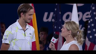 "Daniil Medvedev: ""Thank you very much from the bottom of my heart"" 