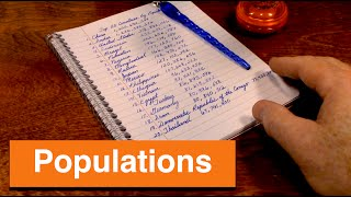 Writing List of Countries by Population - ASMR