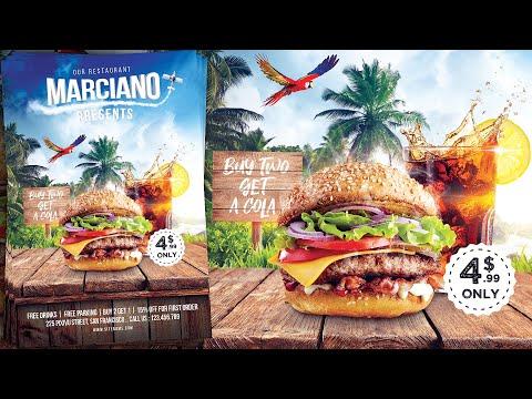 Burger Restaurant Advertising Poster/Flyer Design - Photoshop Tutorial
