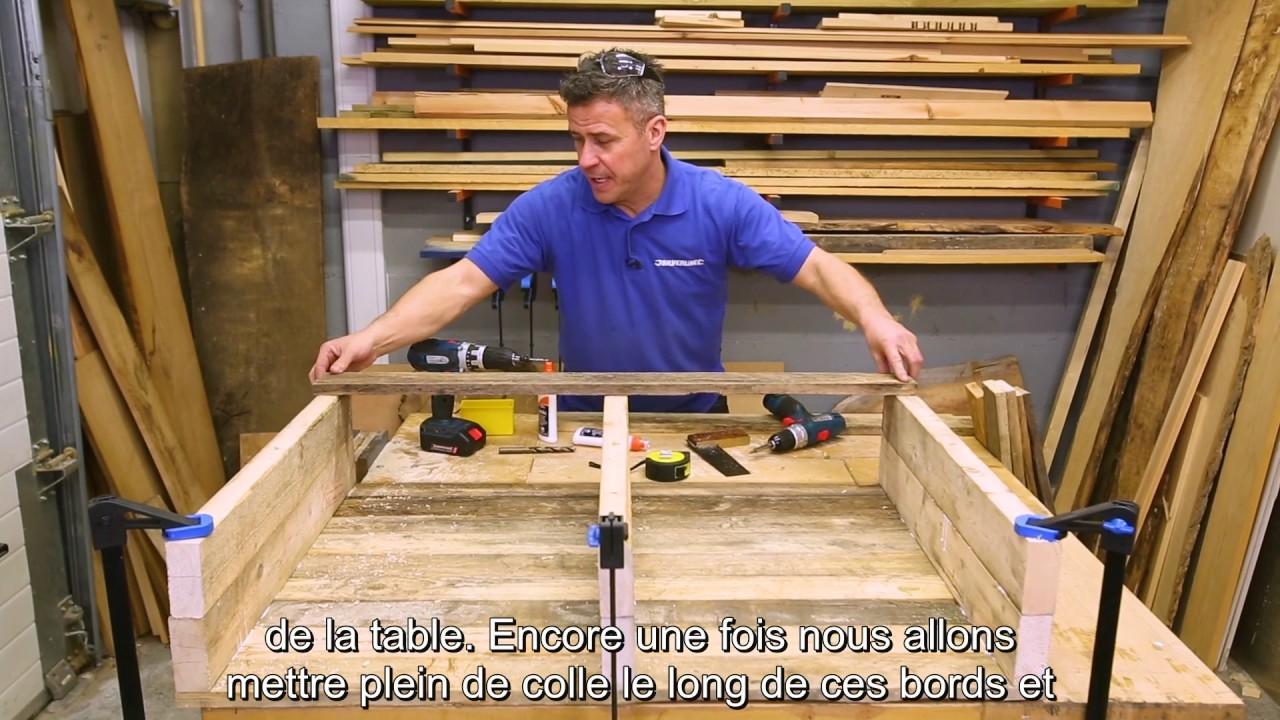 Comment fabriquer une table basse avec des palettes Table basse palette blanche