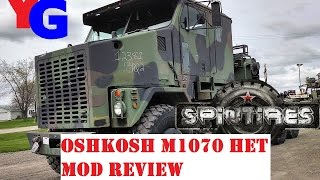 Spintires Mod Review - Oshkosh M1070 8x8 HET (Heavy Equipment Transporter)