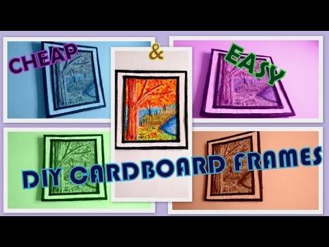 Cardboard Frame Diy Make Painting Frames At Home Redefine Craft 2017