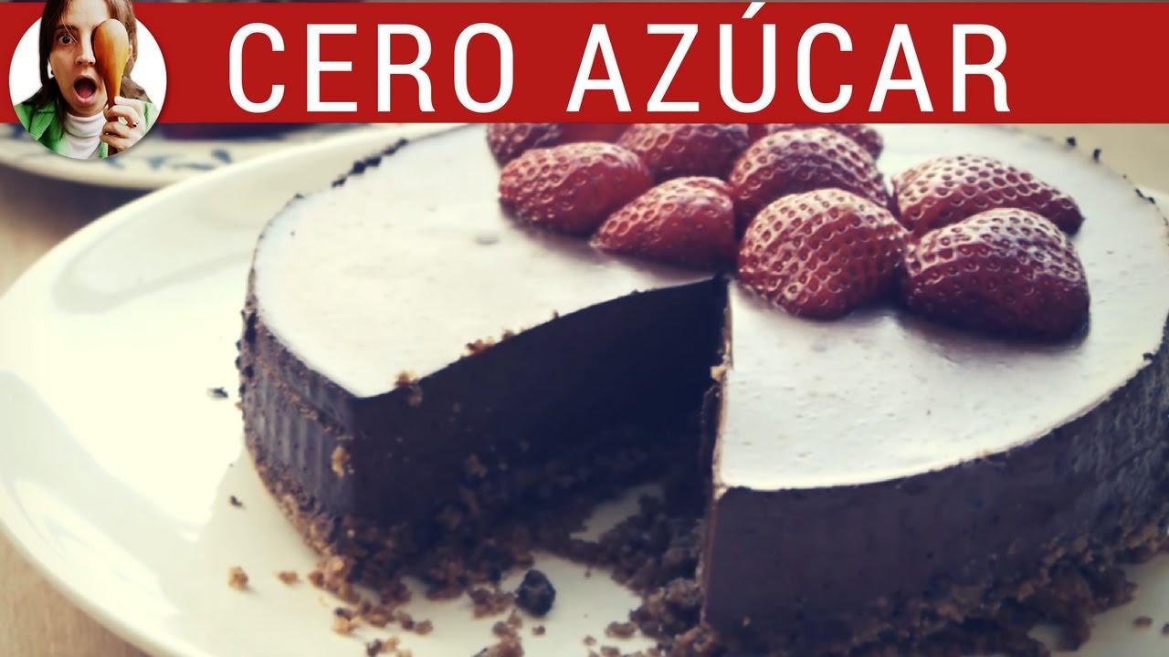 Receta de Tarta Mousse sin azcar y sin horno  Tarta de