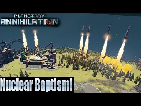 Planetary Annihilation 10 Player FFA - Nuclear Baptism!