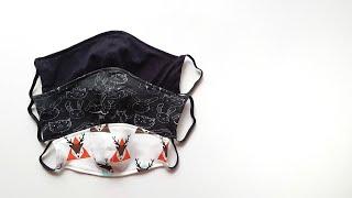 Как сшить маску из ткани Многоразовая медицинская маска из ткани своими руками