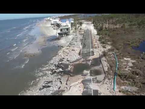 Hurricane Michael aftermath Chopper - Port St Joe to St George Island, FL - 10/12/2018
