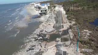 Hurricane Michael aftermath Chopper - Port St Joe to St  George Island, FL - 10/12/2018
