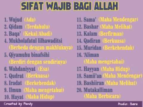 SIFAT 20 ALLAH SWT PDF DOWNLOAD