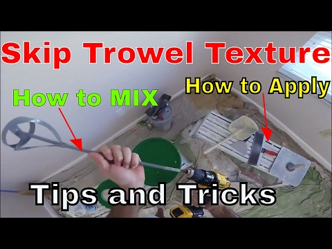 How to Mix Skip Trowel Texture- Tools Needed-Tips and Tricks- DIY How to Skip Trowel Drywall Texture