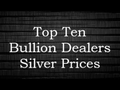 Top Ten Bullion Dealers Silver Prices 18 Jun 2017
