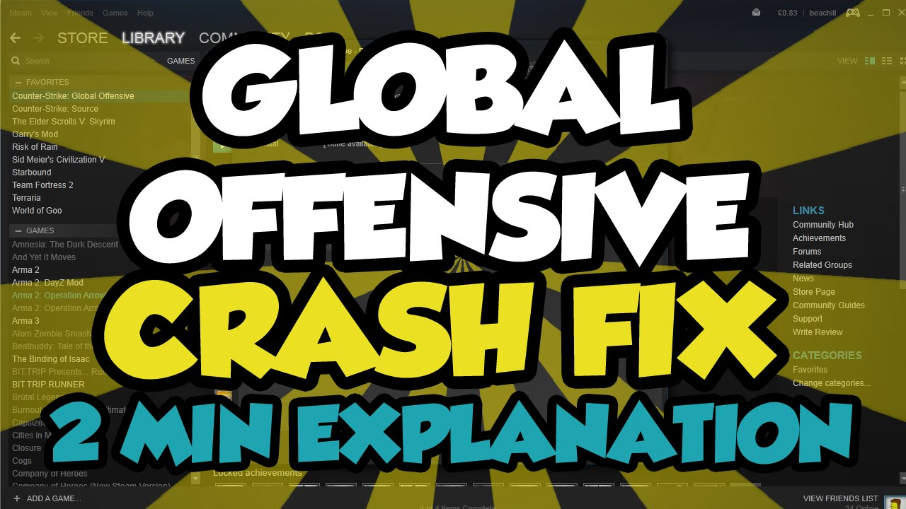 CS:GO CRASH FIX WORKING 2018 - How To Fix Global Offensive From Crashing  2016