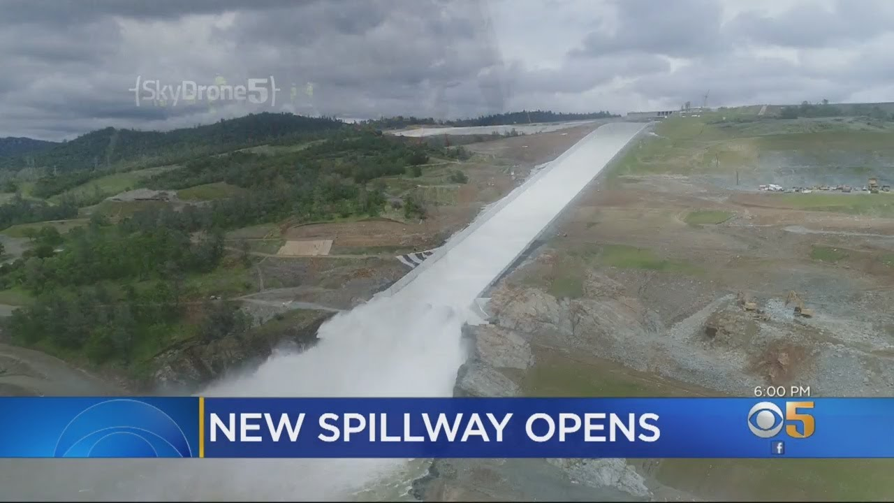 Water Flowing Again Down Rebuilt Oroville Dam Spillway