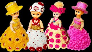 DIY 4 BEST WOOLEN DOLL DECOR/OON KI 4 GUDIYA/4WOOL DOLL CRAFT/GUDIYA
