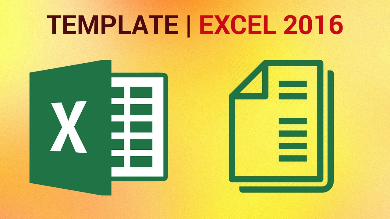 make a template in excel
