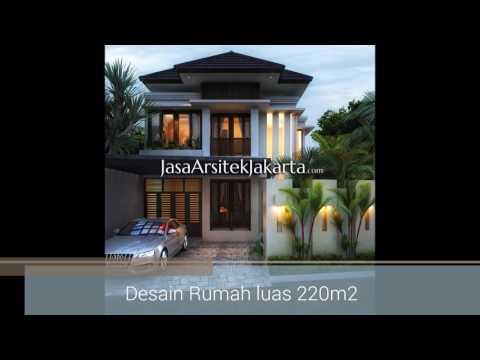 Desain rumah luas 200 300m2 gaya Bali Modern