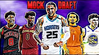 THE OFFICIAL 2020 NBA MOCK DRAFT (HUGE TRADE GOES DOWN!)