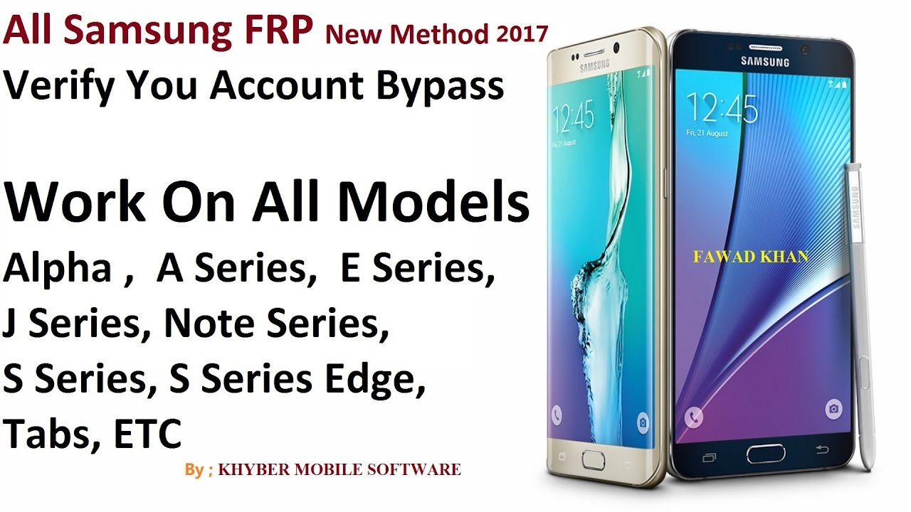 SM J320Vpp & ALL SAMSUNG FRP NEW Method 2017 100% UNLOCK BY KHYBER FAWAD by  Khyber Tech